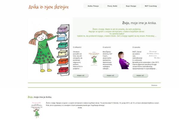 Spletna stran Anika in njene skrinjice