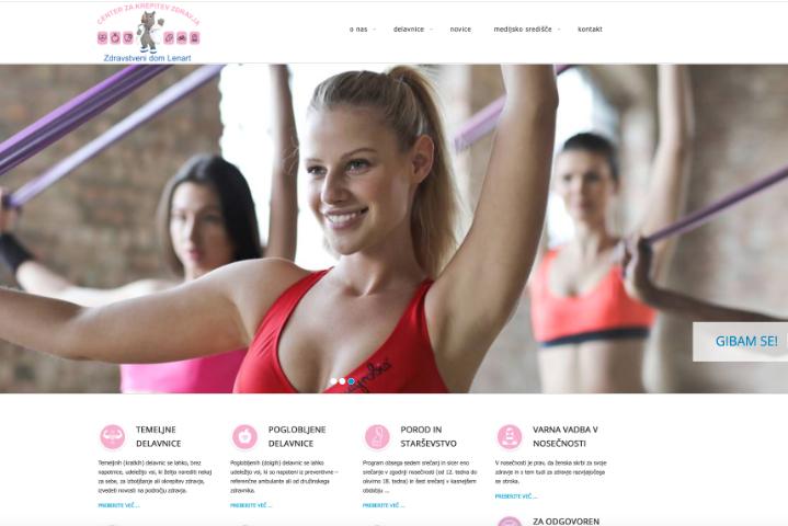 Spletna stran CKZ Zdravstvenega doma Lenart