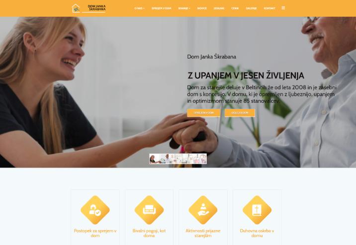 Spletna stran Dom Janka Škrabana