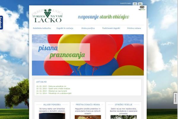 Spletna stran in Facebook stran Turizem na vasi Lacko