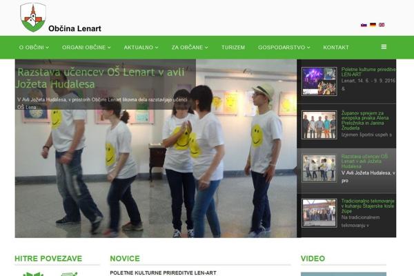 Spletna stran in Facebook stran Občine Lenart