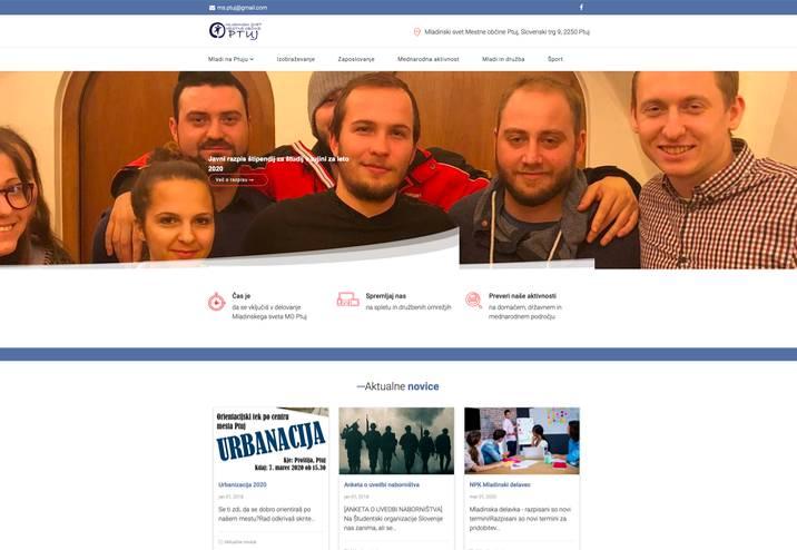 Spletna stran Mladinskega sveta Mestne občine Ptuj