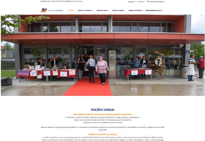 Spletna trgovina VDC Polž Maribor