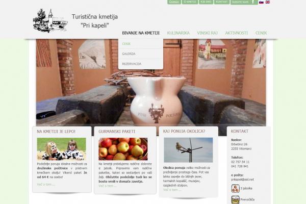 Spletna stran Turizem pri kapeli