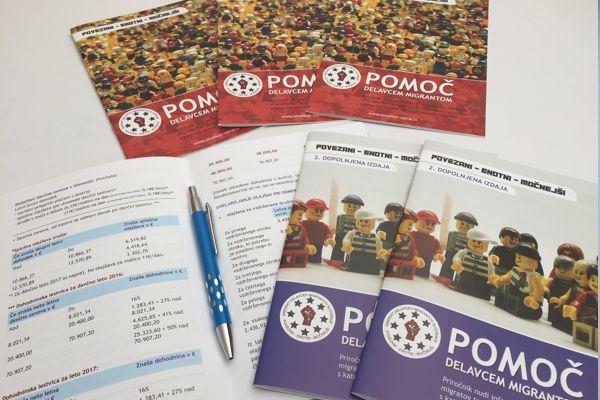 Informacijske brošure za Sindikat delavcev migrantov