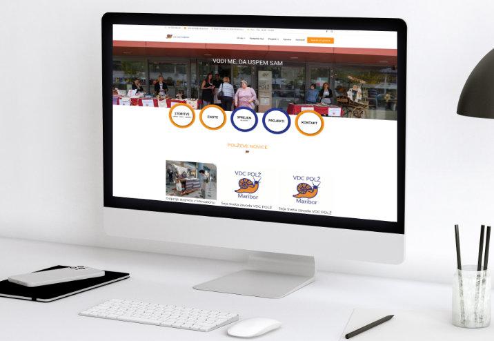 Spletna stran VDC Polž