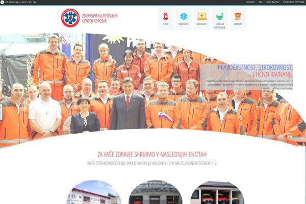 Spletna stran Zdravstveno reševalnega centra Koroške