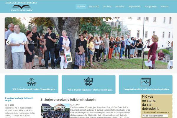 Spletna stran Zveze kulturnih društev Slovenskih goric